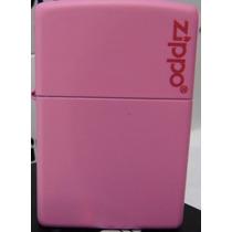 Encendedor Zippo Pink Con Logo Zippo