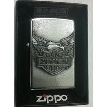 Encendedor Zippo Harley Davidson Emblema 3d Aguila Original!