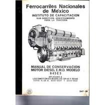 Manual De Conservacion Motor Diesel E.m.d. Modelo 645e3