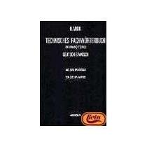 Libro Diccionario Tecnico Aleman Español Tomo 1