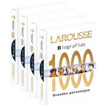 Biografías 1000 Grandes Personajes 4 Vols Larousse