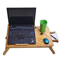 Mesa De Cama Bambu Base Enfriadora Para Laptop 10-16 2clicmx