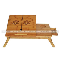 Mesa Cama Bambu Base Enfriador Laptop Con Ventilador 2clicmx