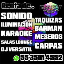 Renta De Sonido, Iluminación Y Karaoke