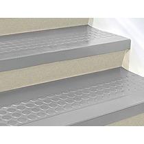 Piso O Paso De Caucho Gris Para Escalera De 121cmx30cm