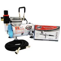 Kit Aerografo Profesional Goni Compresor Mang + Envio Gratis