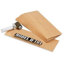 Caja Con 703 Plantillas De Carton Aceitado Para Estarcido