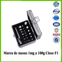 Marco De Masas 1mg A 100g Oilm Clase F1 Acero Inoxidable