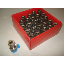 Caja 25 Piezas Conector Recto 3/8 Npt X 1/2 Od Inoxidable