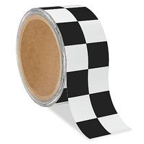 Paquete 3 Cintas De Seguridad A Cuadros Blanco/negro 5cmx16m