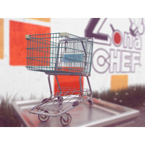 Carrito Supermercado Carro Maceta Con Ruedas Almacen