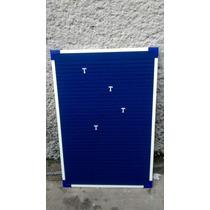 Pizarrón Ranurado 40 X 60 Cm Paño Azul Rey
