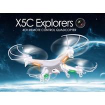 Drone Syma X5c Recargable Camara Video Hd 4 Helices Extras