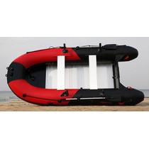 Lancha Inflable Pesca Raft Piso Rigido Aluminio 9.8