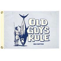 Bandera Para Yate O Lancha. Old Guys Rule 12x18 Pulgadas