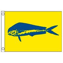 Bandera Para Yate O Lancha. Dorado 12x18 Pulgadas