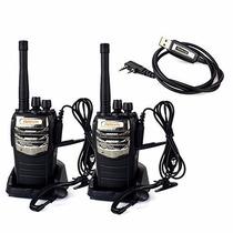Radios Retevis Rt-6s Walkie Talkie 2 Way Radio Paquete De 2