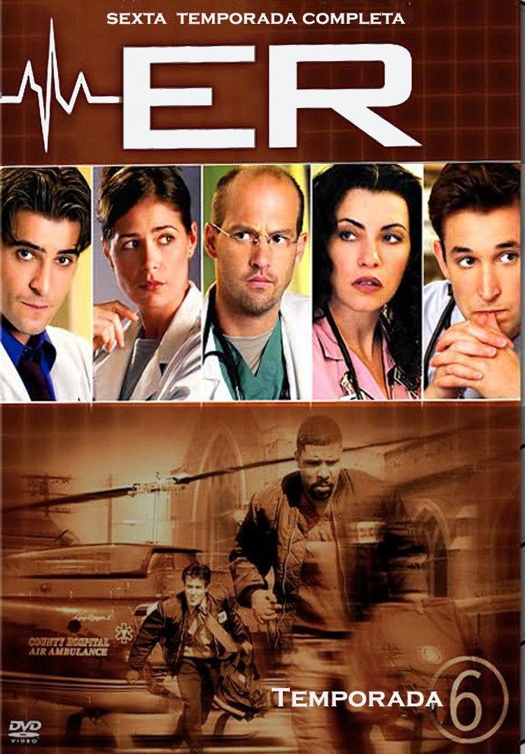 Sala De Urgencias Serie De Tv ~ Sala De Urgencias Temporada 6, Seis Serie De Tv En Dvd  $ 29900 en