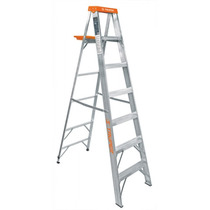 Escalera De Tijera, Aluminio, Tipo Ll, 7 Escalones