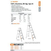 Escalera Aluminio Tipo Lll 4 Escalones
