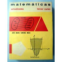Libro Antiguo De Secundaria. Matemáticas 3er. Curso. Vbf