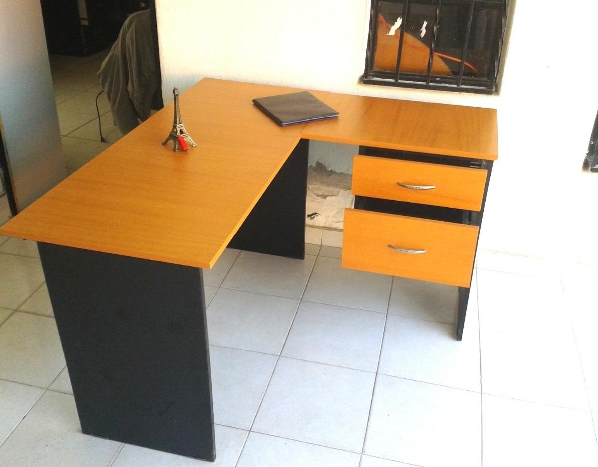 Escritorio en l con 2 cajones fabricamos muebles de for Muebles de oficina wengue