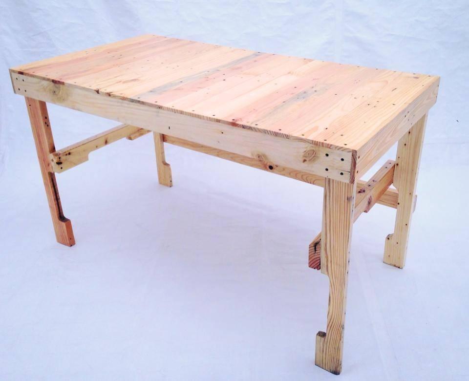 Escritorio mesa de trabajo grande madera tarima - Como hacer una mesa escritorio ...