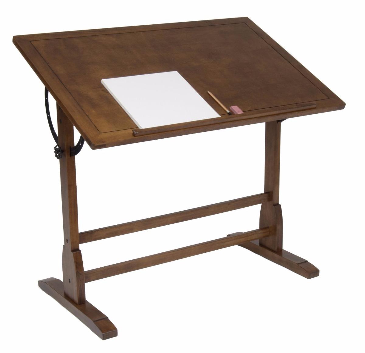 Escritorio Mesa De Trabajo Restirador Antiguo Dibujo 107 Cm 4999
