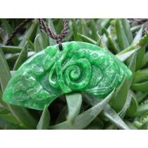 Fu En Jade Verde Esmeralda Con Dos Pajaros