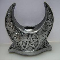 Wicca Candelabro Portavela Celta Druida Rituales Diosa Luna