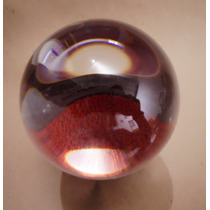 Bola De Cristal 14 Cm Diametro Con Su Base Grande