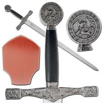 Espada Medieval Excalibur Del Rey Arturo Con Base 122 Cm