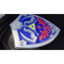 Escudo Y Gorro Link Legend Of Zelda Hylian Shield De Madera