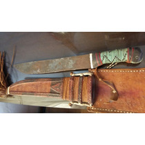 Machete Antiguo Con Funda De Cuero
