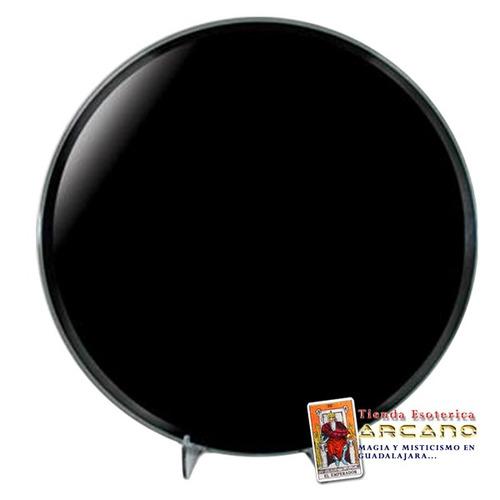 Espejo de obsidiana negro redondo 30 cm diametro for Espejo redondo negro