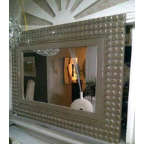 Espejo Moderno En Acabado Plata