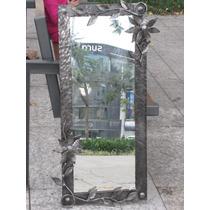 Espejo Decorativo Colonial Antiguo Forjado A Mano