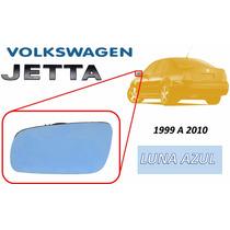 99-10 Vw Jetta Luna De Espejo Azul Con Base Lado Izquierdo