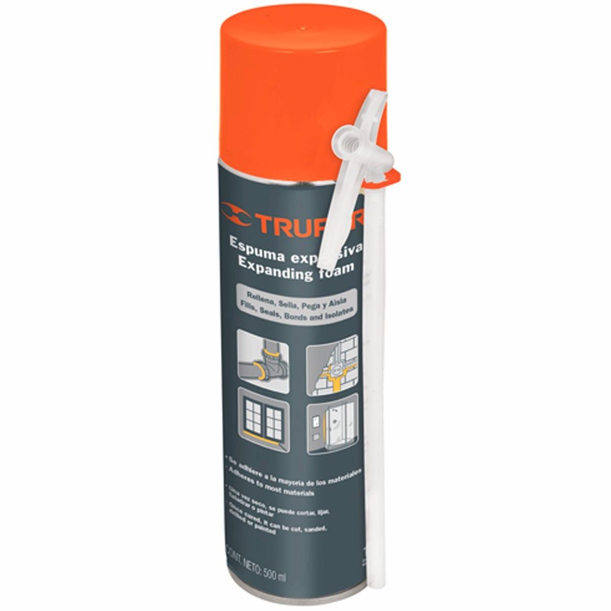 Espuma expansiva multiusos 500 ml truper 10920 for Espuma de poliuretano precio