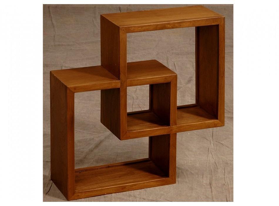 Estan repisa de madera de pino minimalista muebles for Programa para hacer muebles de madera