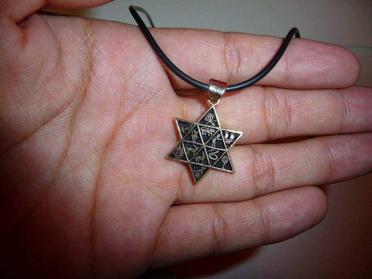 estrella de david chapa de oro garantizada y con 7 metales 298