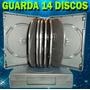 10 Pack Estuche Para 14 Discos Cd/dvd/bd. Negros