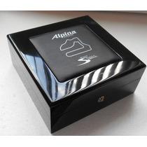 Alpina Estuche Original De Madera P/reloj Fotos Reales Bueno