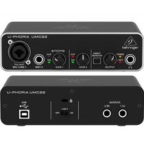 Behringer Umc22 Interfase Usb Micrófono/instrumento Vbf