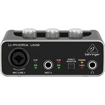 Behringer Um2 Interfaz De Audio 2x2 Usb Preamps Midas