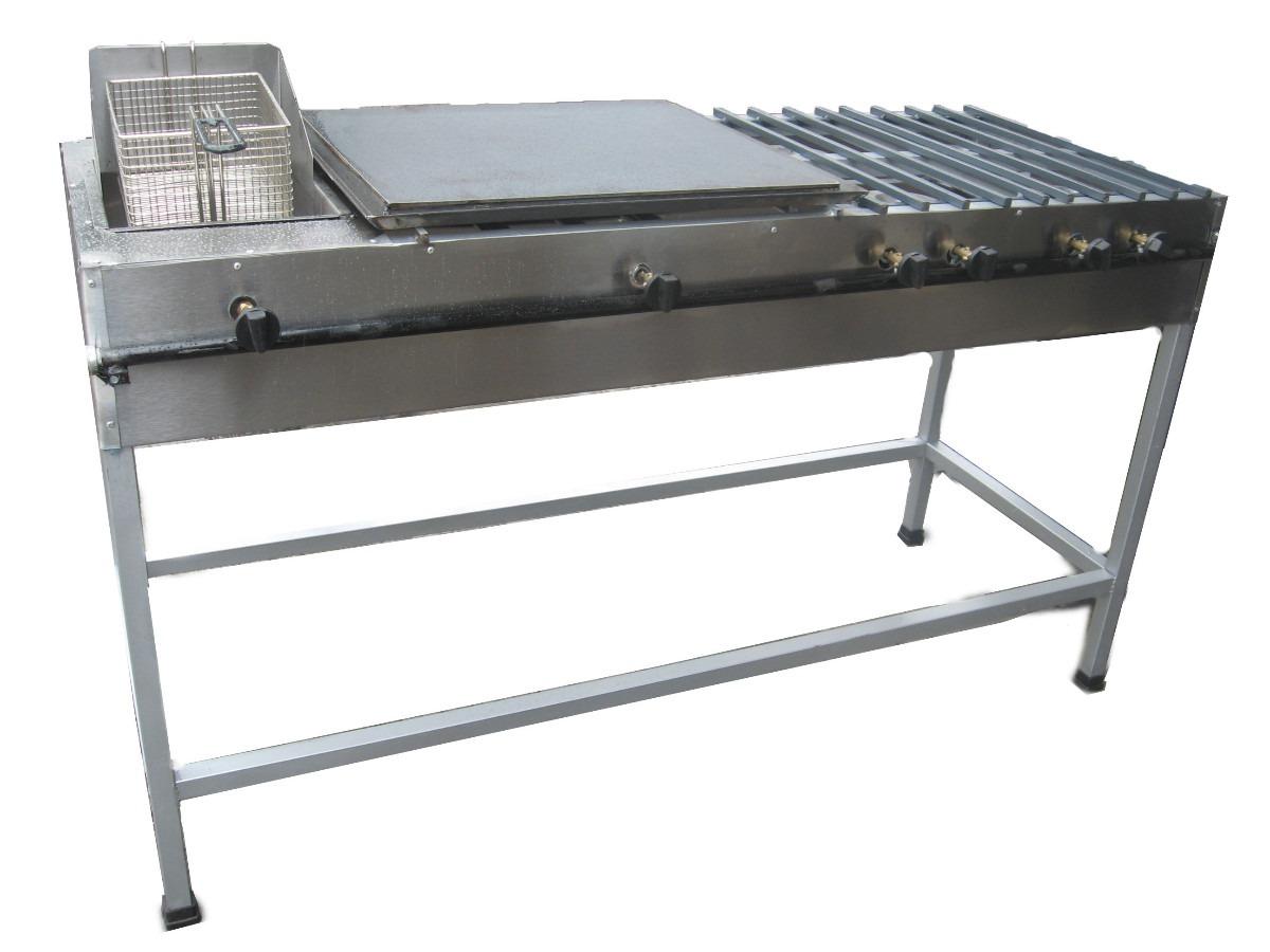 Estufa industrial 4 quemadores plancha y freidora for Estufa industrial precio