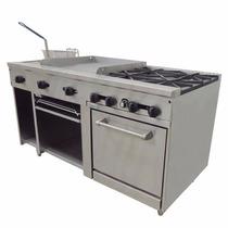 Asber Amr-60 Estufa Mixta Plancha Horno Gratinador Cocina