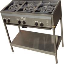 Parrilla Estufa Chef 3 Quemadores De Gas Sin Alacena Acero I