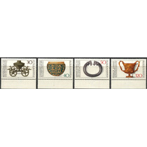 0462 Arte Antiguo Alemania 4 Sellos Mints N H 1976