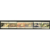 0804 Animales Australia Serie 6 Sellos Usados Modernos